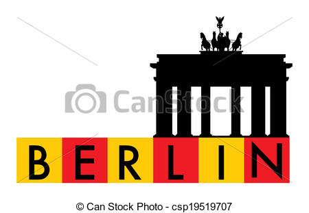 Berlin, germany. Berlin, brandenburger gate vector clipart - Search  Illustration, Drawings and EPS Graphics Images - csp19519707