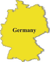 Germany gray map clipart. Size: 56 Kb From: Country Maps