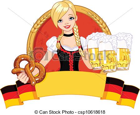 Oktoberfest girl design - csp - Germany Clipart