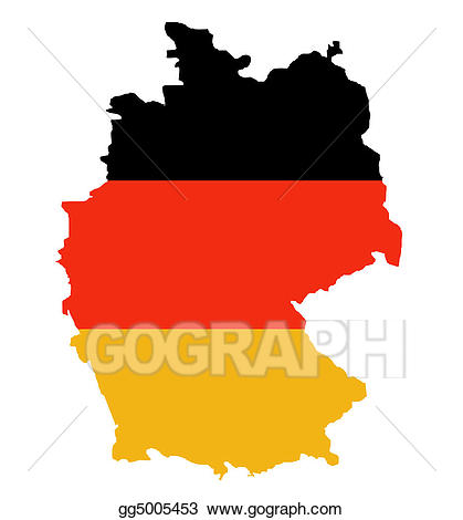 Outline map of Federal Republic of Germany