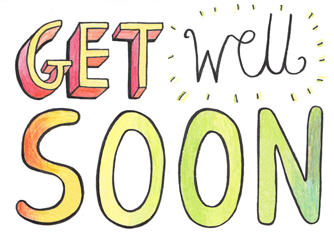 Get Well Soon Clip Art Graphic