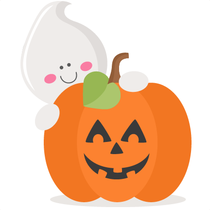 Ghost With Pumpkin SVG .