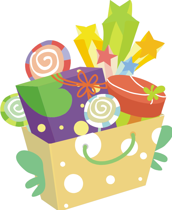 Christmas gift baskets clipart