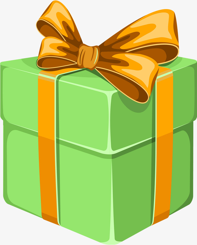 green cartoon gift box, Cartoon Clipart, Gift Clipart, Green Gift Box PNG  Image