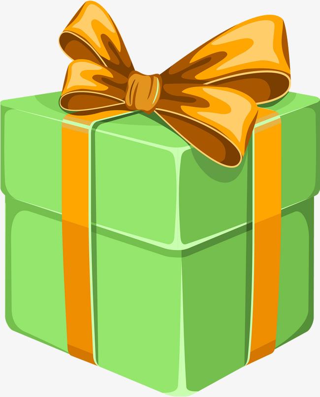 green cartoon gift box, Carto - Gift Clipart
