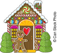 ... Gingerbread House and Man - A cute little decorated... Gingerbread House and Man Clipartby ...