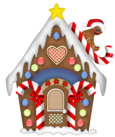 Gingerbread House. Christmas clipart, Clip .