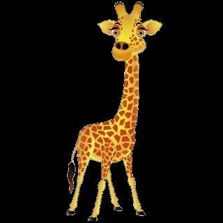 Giraffe Cartoon Animal Clip .