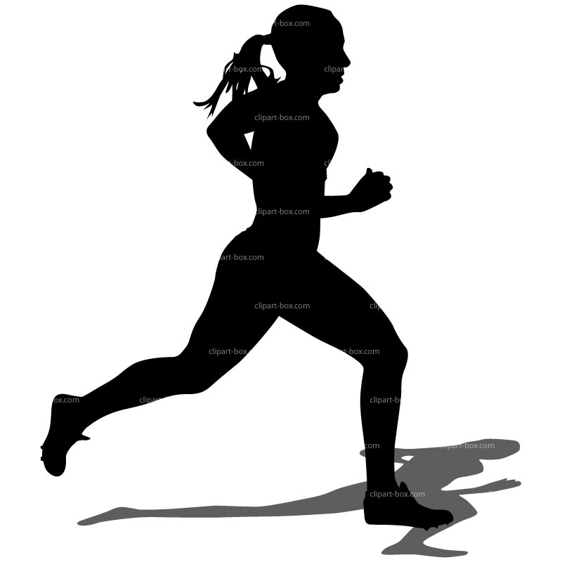 girl running clipart