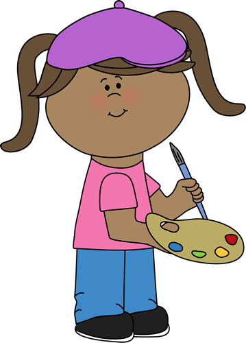 Girl Artist Clip Art Girl Artist Image