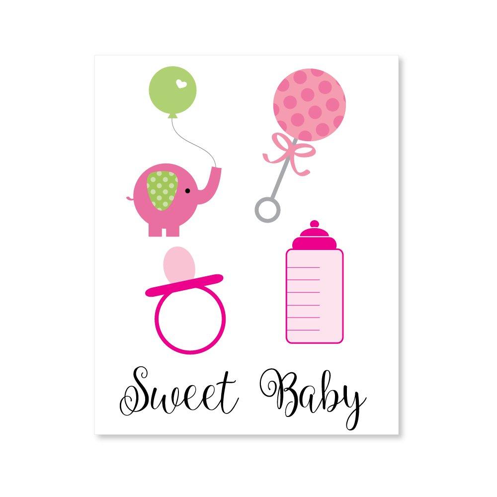 girl baby shower clipart image