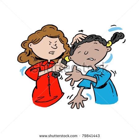 Girl Bully Clipart