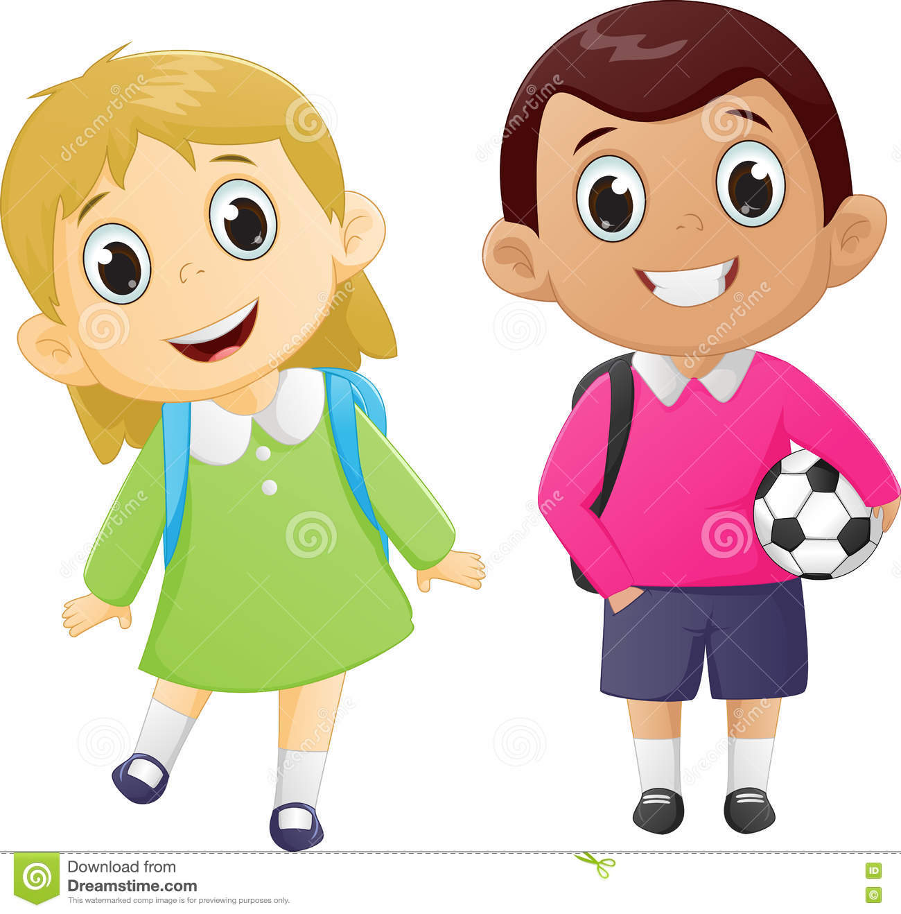school boy and girl clipart 3