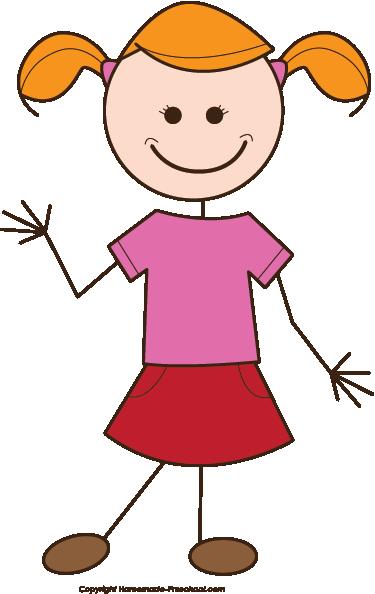 Girl Clipart Stick Figure .