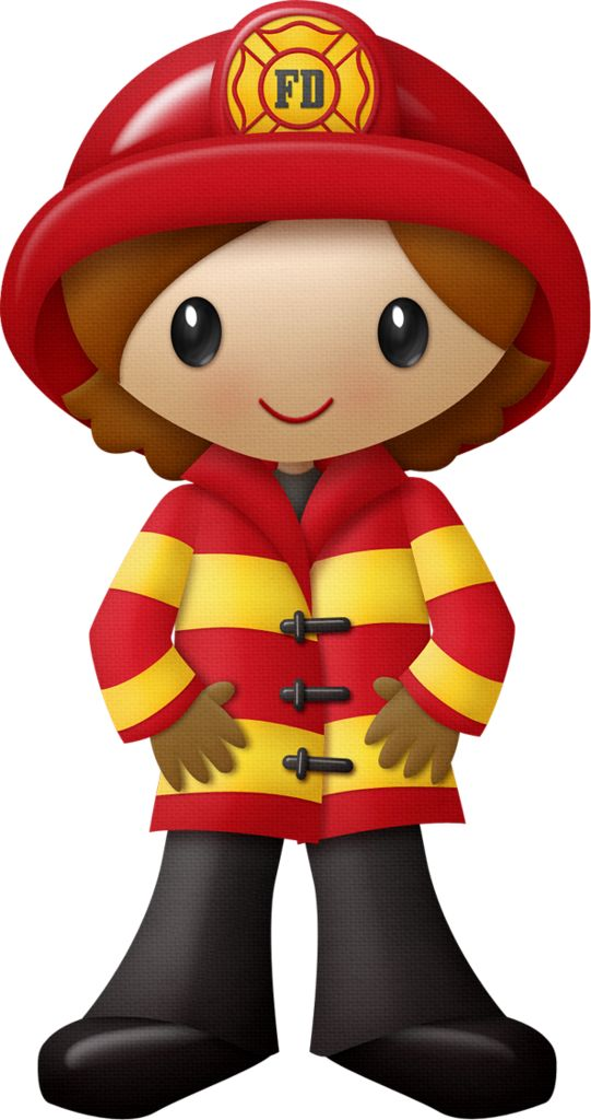 GIRL FIREFIGHTER CLIP ART