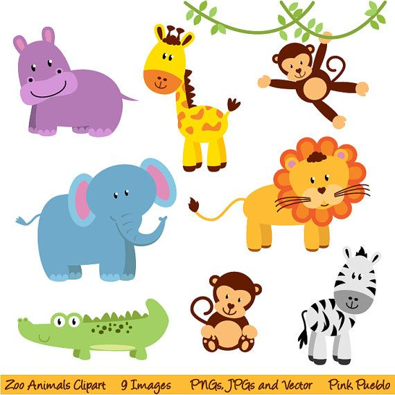Girl Forest Animals Clipart