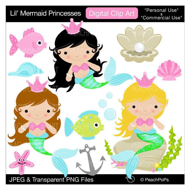 Girl Little Mermaid Clipart #1