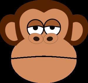 Girl Monkey Face Cartoon .