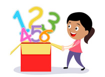 Girl Opening Box Full Of Numbers Math Size: 77 Kb