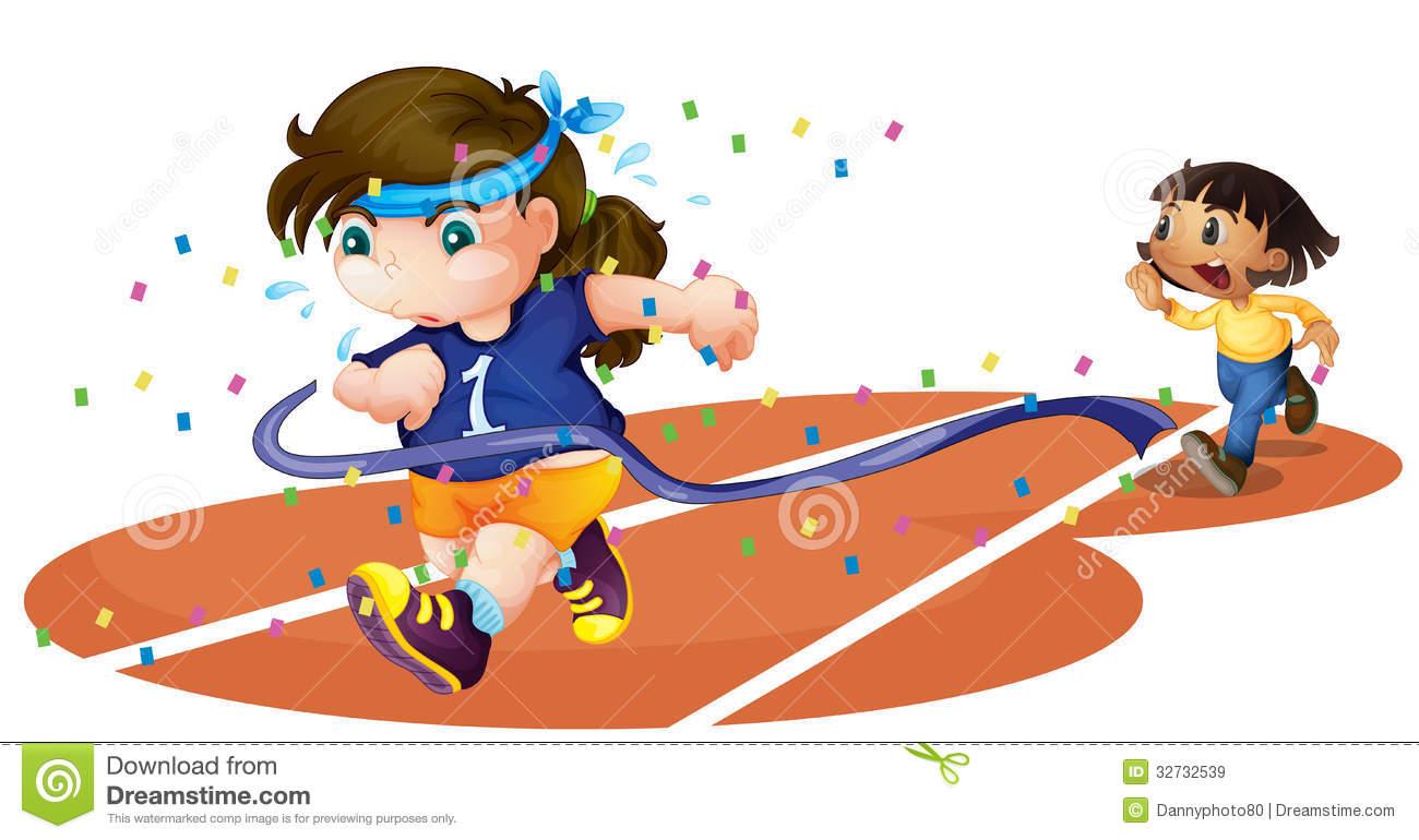Girl Running Race Clipart Girls On A Race Track