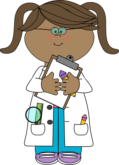 Girl Scientist with Clipboard