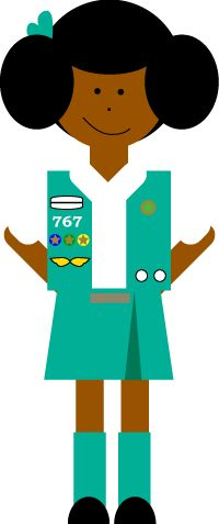 Girl scout clip art on clip art girl scouts and scouts