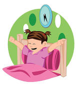 Girl waking up. Little Girl Hair clipart and .