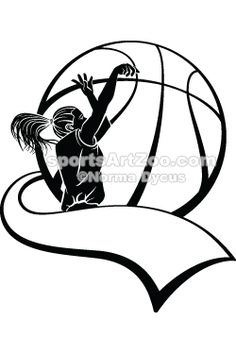 Girl Basketball Shooter With Pennant Royalty Free Stock Photo .