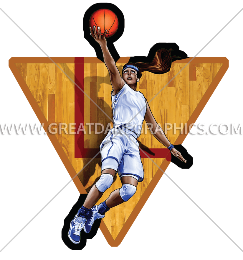 Girls Basketball Layup | Production Ready Artwork for T-Shirt Printing  banner royalty free Girls Basketball Clipart 2