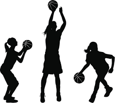 Girls Basketball Clipart 2