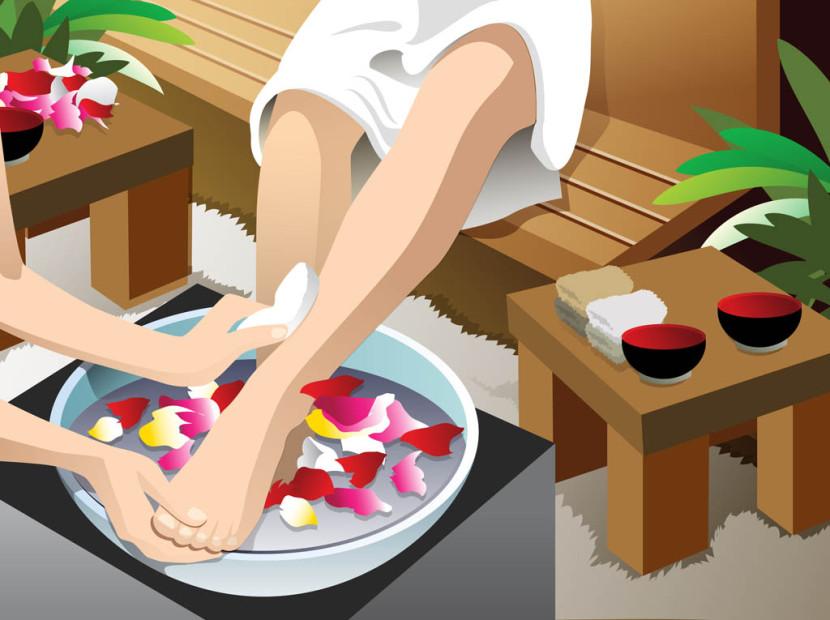 Girls Beauty Pedicure Pedi Graphics Clipart Set u0026middot; Free Feet Vectors