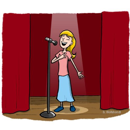 Girls Talent Show Clipart