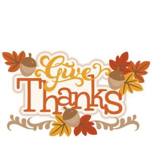 Give Thanks SVG - Thanksgiving Clipart