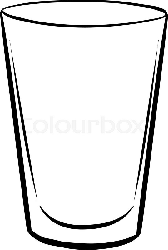 538x800 Single glass with no drink inside Stock Vector Colourbox