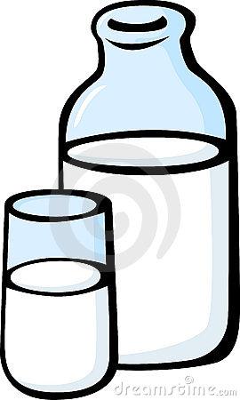 Glass Milk Bottle Clipart Milk Glass Bottle Vector Illustration
