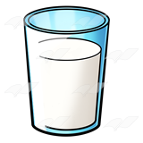 Glass of Milk .