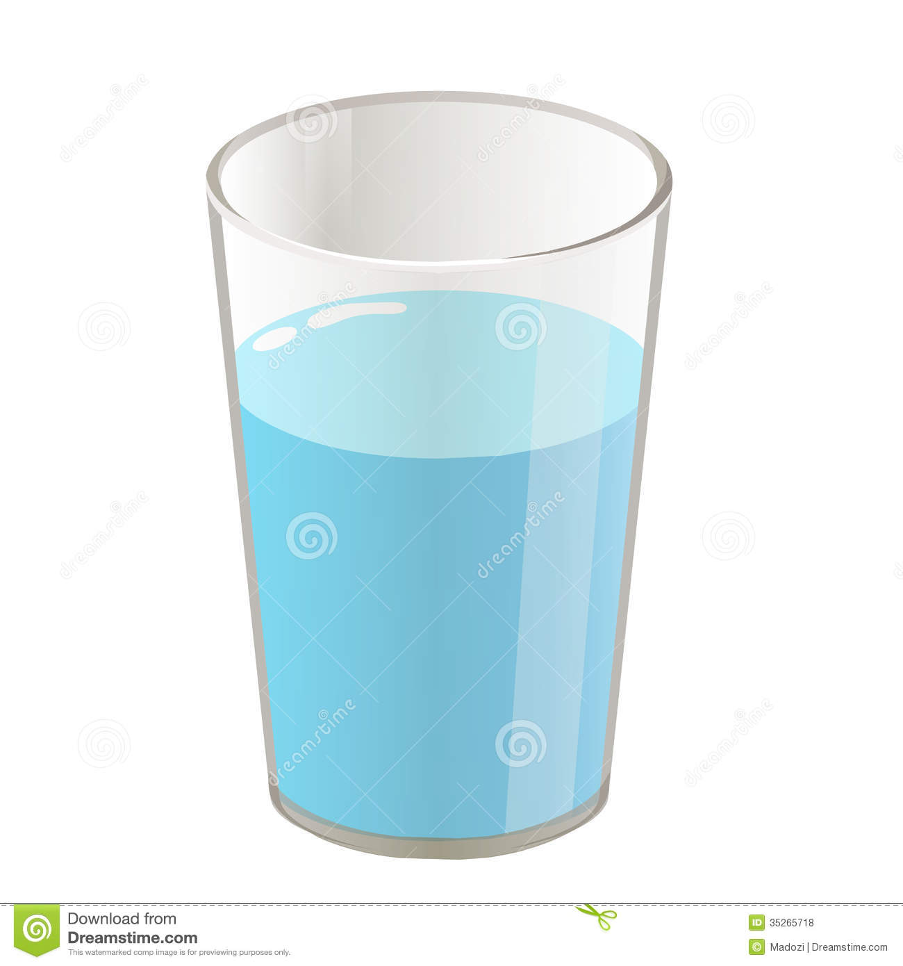 Glass Of Water Clip Art Glass With Water Isolated
