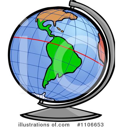 Globe Clipart #1106653 .