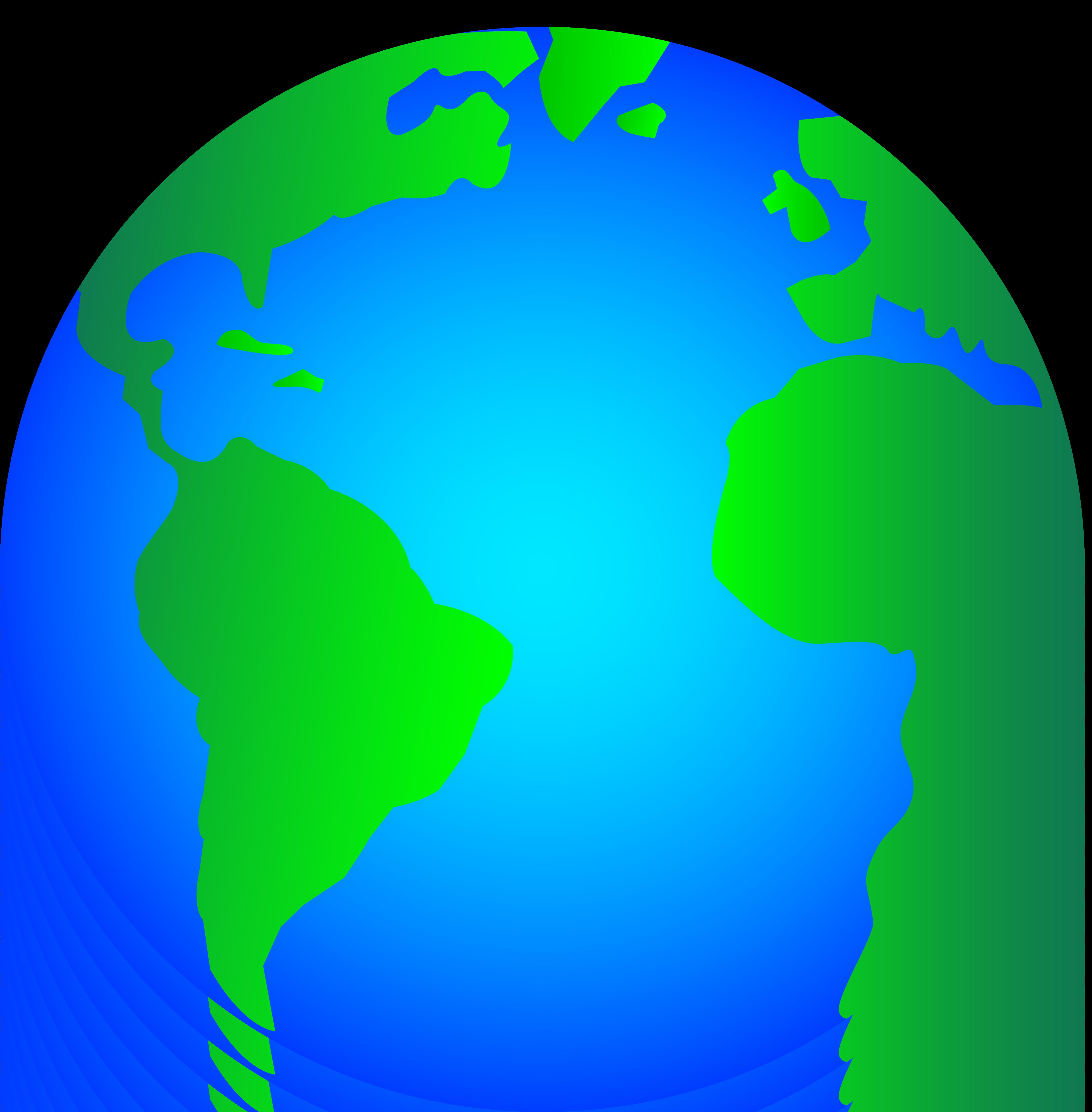 Globe earth cliparts