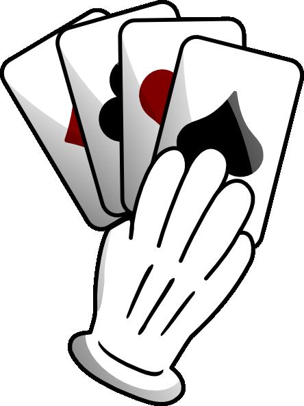 Gloved Hand Of Cards Clip Art At Clker Com Vector Clip Art Online