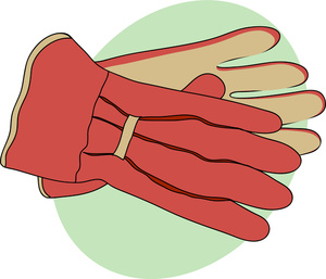 Gloves Clipart Image: A Pair of Gardeners Gardening Gloves