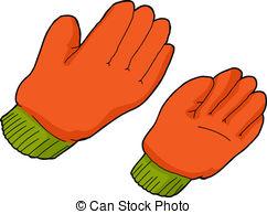 . ClipartLook.com Orange Work Gloves - Pair of orange work gloves over.
