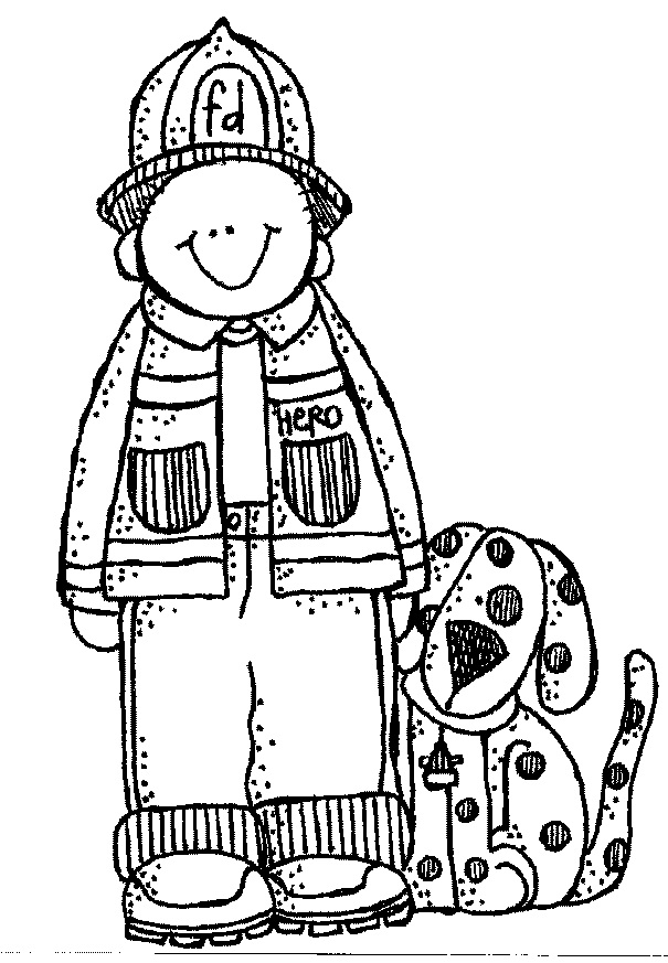 Go Back Gallery For Fireman Clipart Black And White