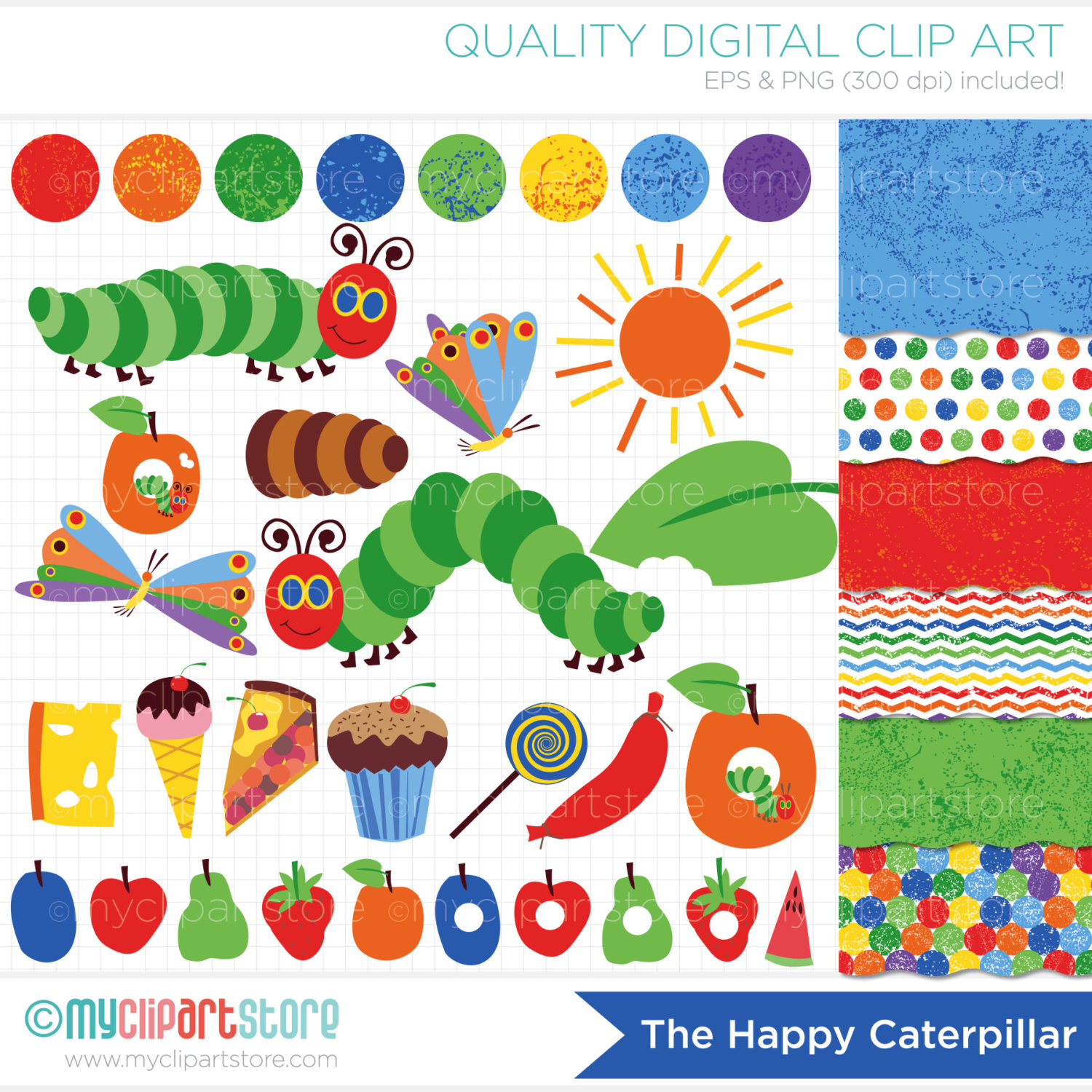 Go Back Images For Very Hungry Caterpillar Clipart