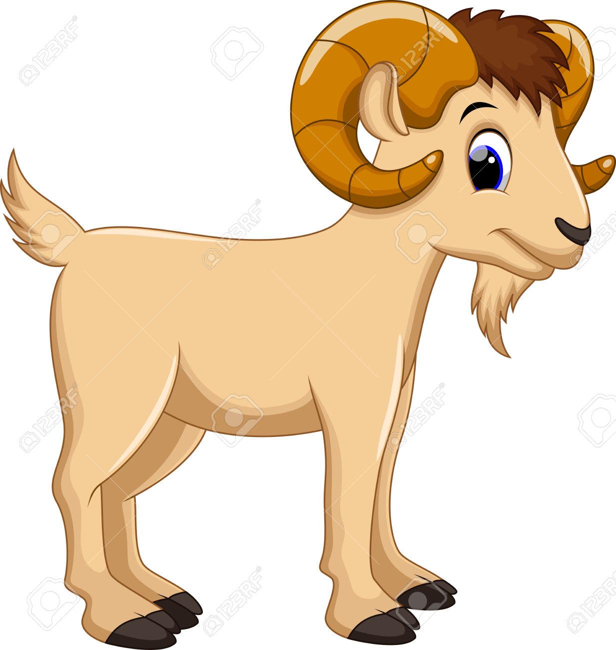 Cute Cartoon Goat Clipart #1