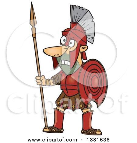 Cartoon Greek God Of War Ares - God Of War Clipart
