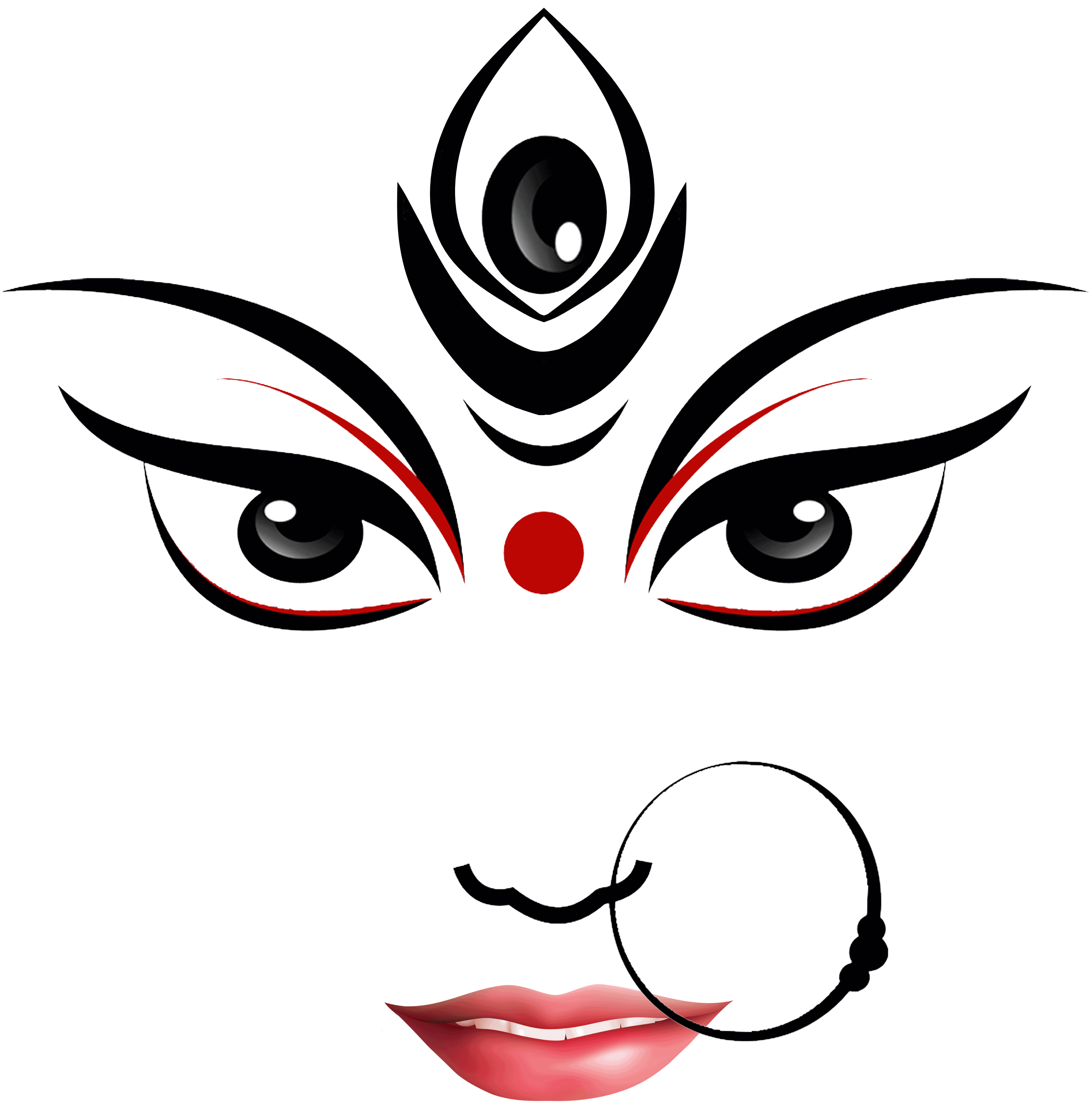 Goddess Durga Maa Clipart