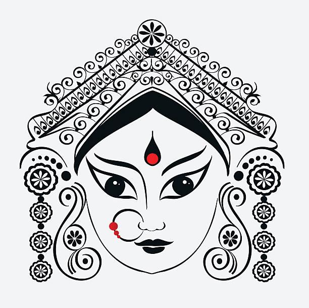 Durga, Saraswati, Lakshmi. vector art illustration