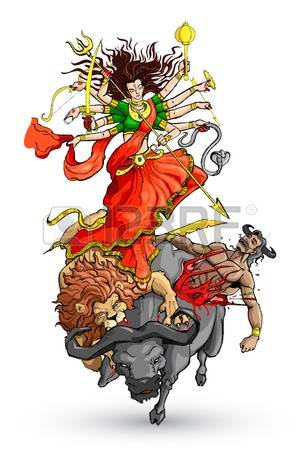 Goddess Durga Royalty Free Cliparts, Vectors, And Stock Illustration. Image  14892456.