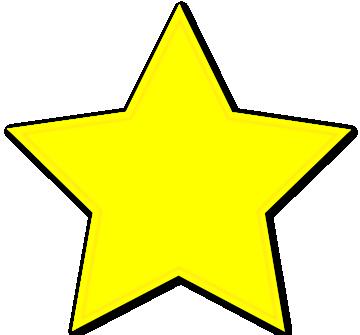 gold star border clipart